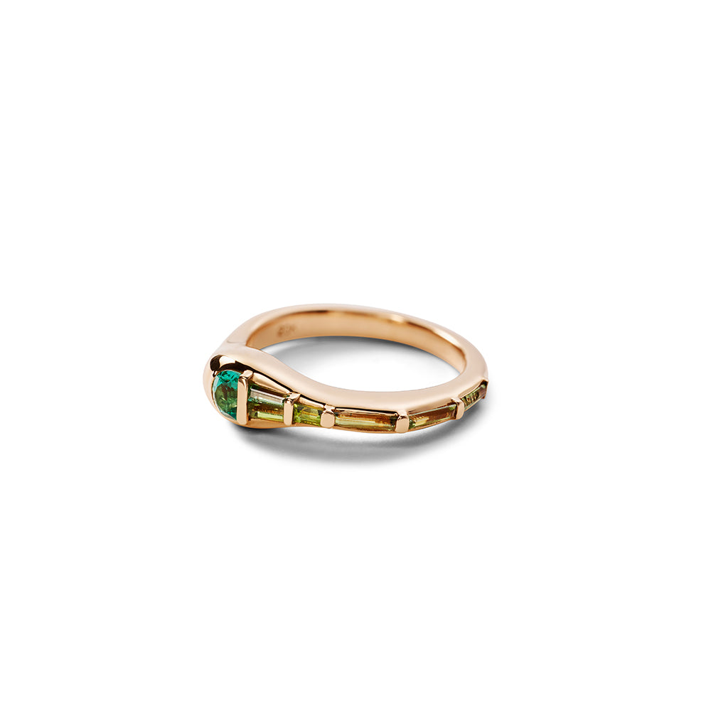 """Wrap"" Green and Blue Tourmaline Ring"