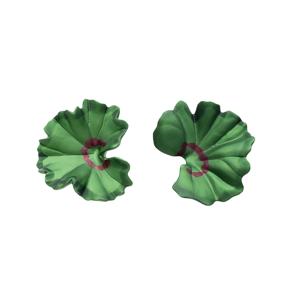 """Geranium Leaf"" Clip-on Earrings"