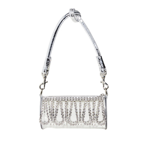 "CRYSTAL FRINGE ""ROLL BAG"""