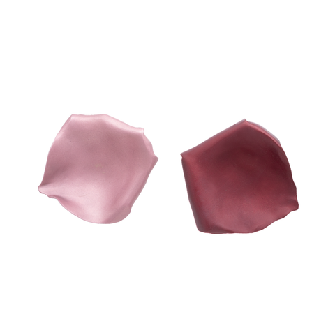 """Two Tone Rose Petal"" Clip-On Earrings"