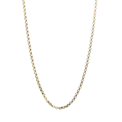 """9K Yellow Gold Rolo Chain"" Necklace"