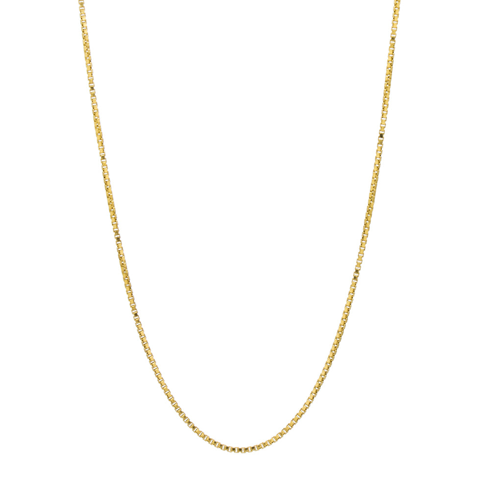 """14K Yellow Gold Filled Box Chain"" Necklace"