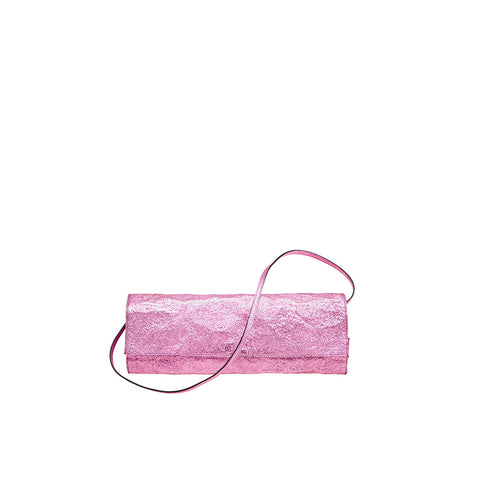 """Metallic Leather Lilac"" Long Clutch Bag"