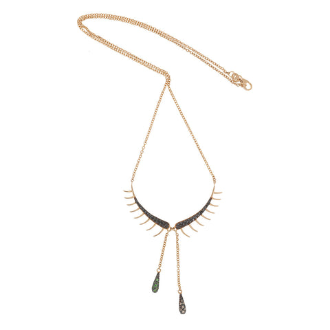 """Tearful Eyelash"" 18k Gold Necklace - ARCHIVES - 1"