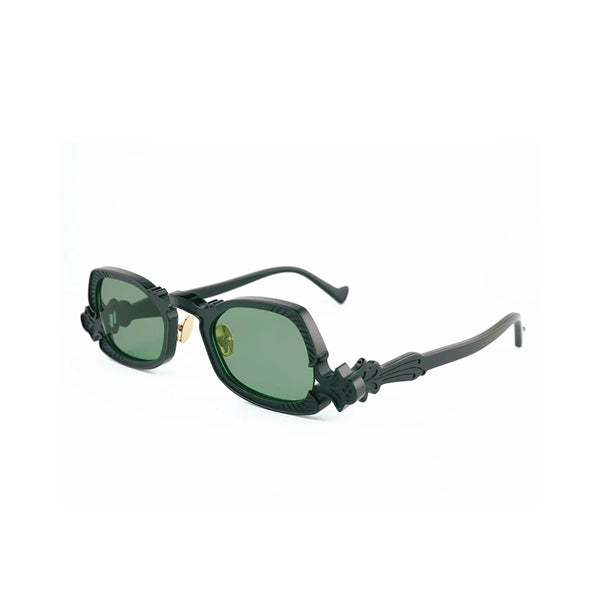 """ARSENIC"" BLACK / GREEN SUNGLASSES"