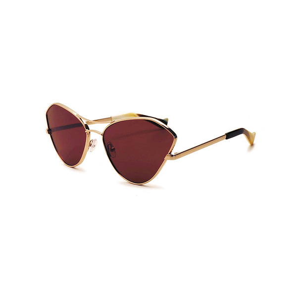 """FLUXUS"" GOLD / BROWN SUNGLASSES"