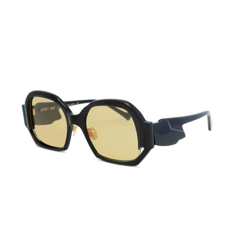 """Come-On"" Black/Gold Sunglasses"