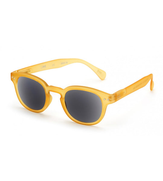 """C"" Yellow Crystal Sunglasses - ARCHIVES"