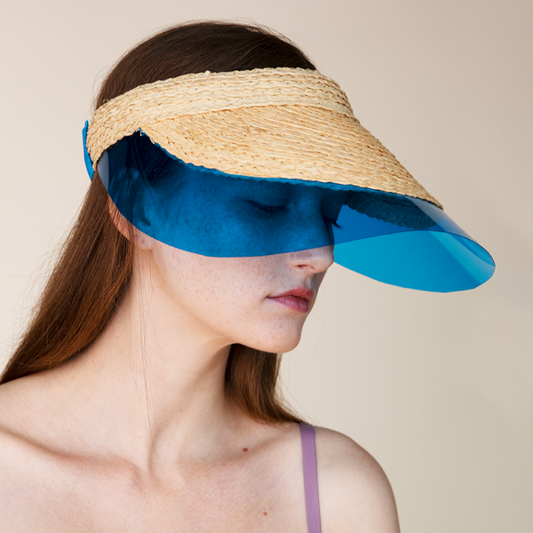 """Billiard Visor"" Nat/Blue"