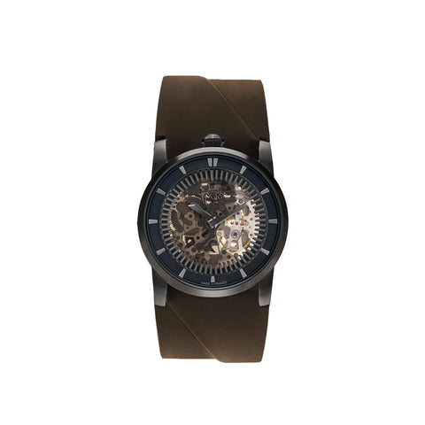 """R413"" Brown Leather Bracelet Watch"