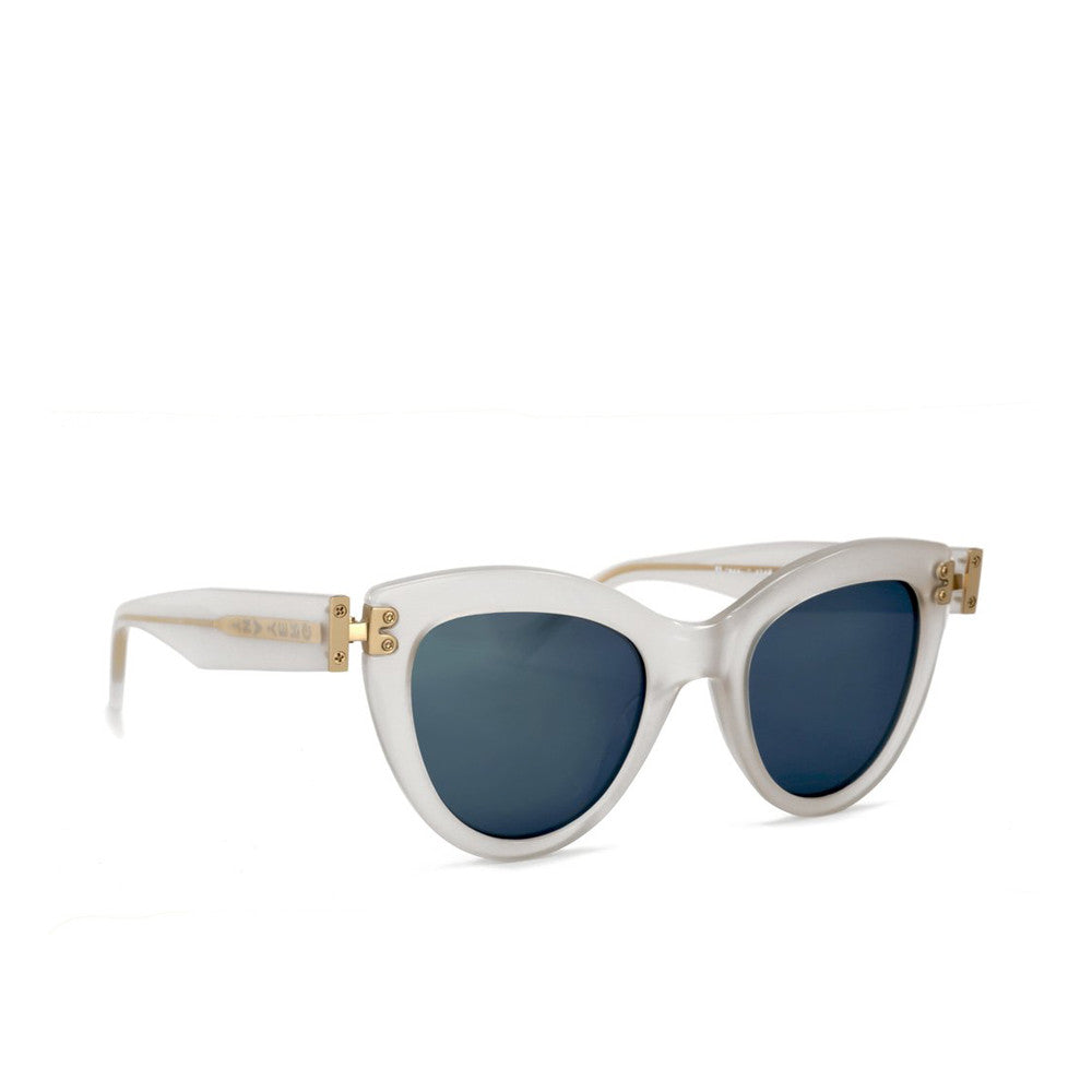 """Discov"" White Frost Sunglasses"