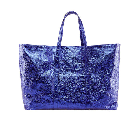 """Steel Electric Blue"" Big Shopper Bag & Small Purse"