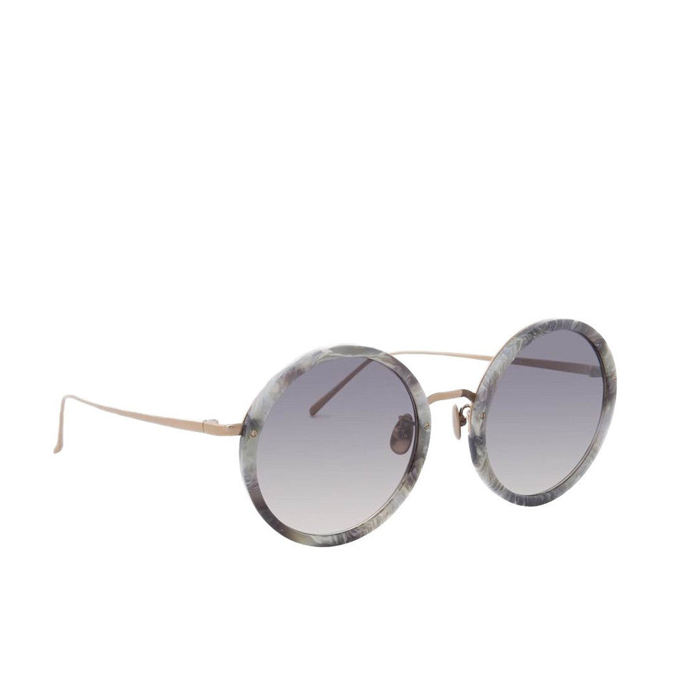 """Round Grey Marble"" Sunglasses"