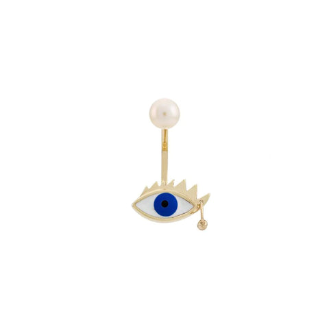 """ANATOMIK BLUE EYE"" PIERCING MONO EARRING"
