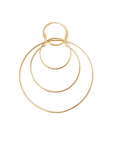 """Anna 3 in 1 Hoop"" Mono Earring"