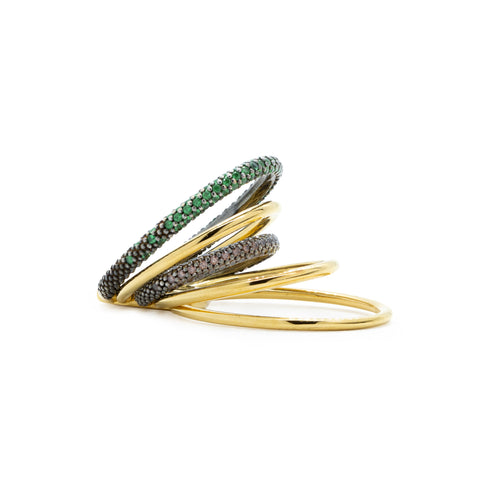 """Double Solar Pave"" Ring"
