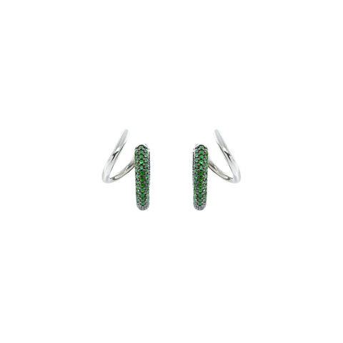 """Stellar"" Emerald Pave Earrings"