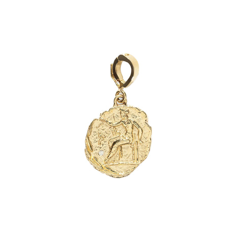 """APHRODITE SMALL DIAMOND COIN"" CHARM"