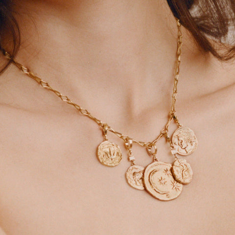 """APHRODITE SMALL DIAMOND COIN"" NECKLACE"