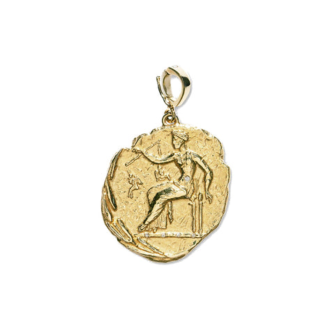 """APHRODITE LARGE DIAMOND COIN"" CHARM"