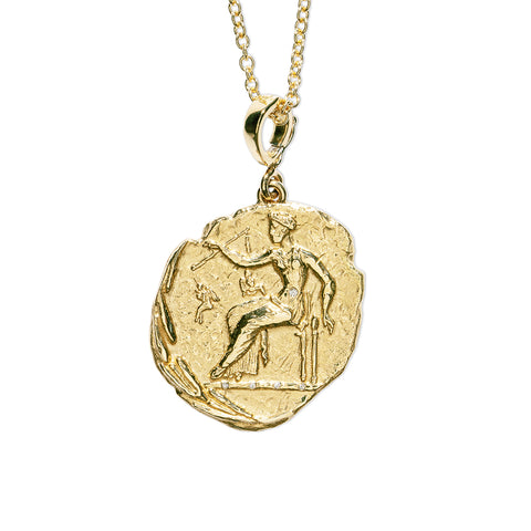 """APHRODITE LARGE DIAMOND COIN"" NECKLACE"