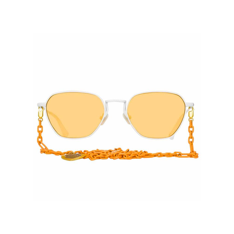 "Alessandra Rich ""1 C9"" Rectangular Orange Sunglasses"