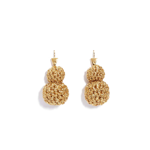 """Rock Formation Earrings"" Gold"