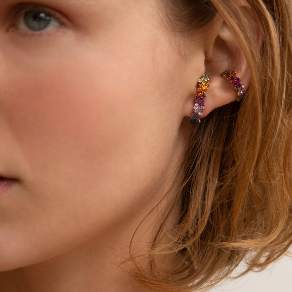 """MIRIAN"" MULTICOLOUR MONO EAR CUFF"