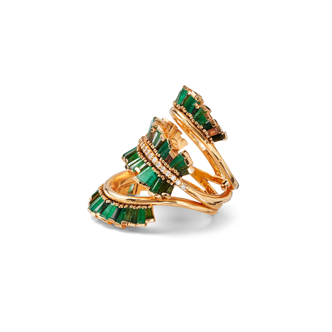"""Triple Ruched Ribbon Ring"""