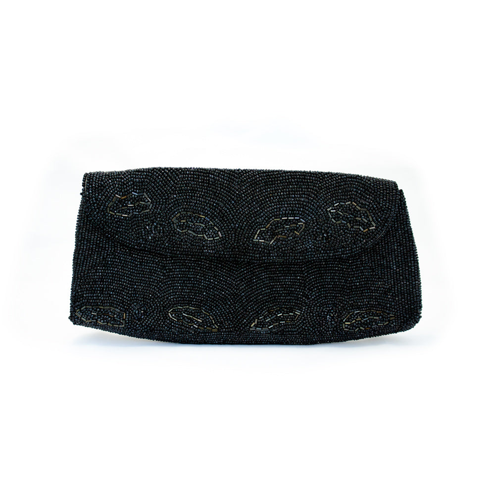 "Vintage ""Black Beaded"" Clutch"