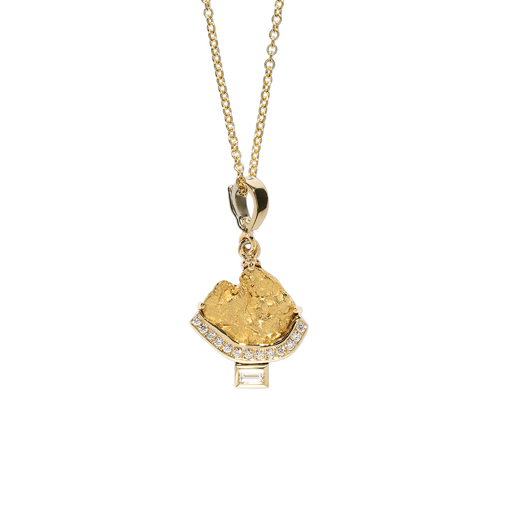 """AURUM PAVE & BAGUETTE DIAMOND"" NECKLACE"