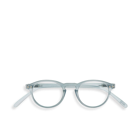 """A"" Frosted Blue Reading Glasses"