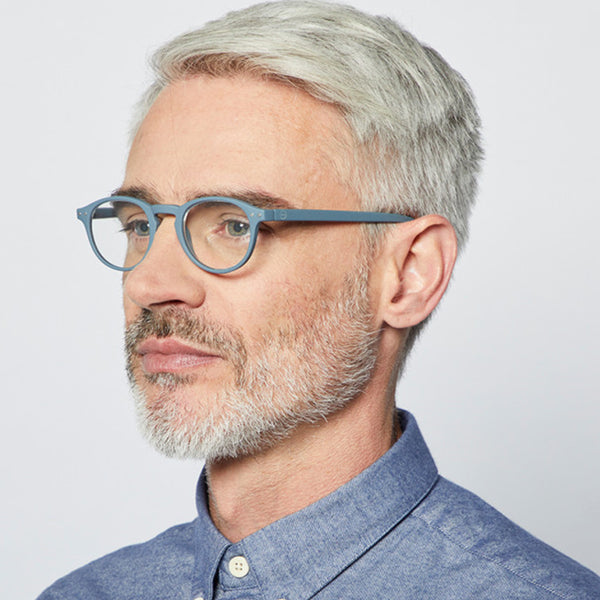 """A"" Grey Soft Reading Glasses"