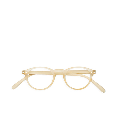 """A"" Neutral Beige Reading Glasses"