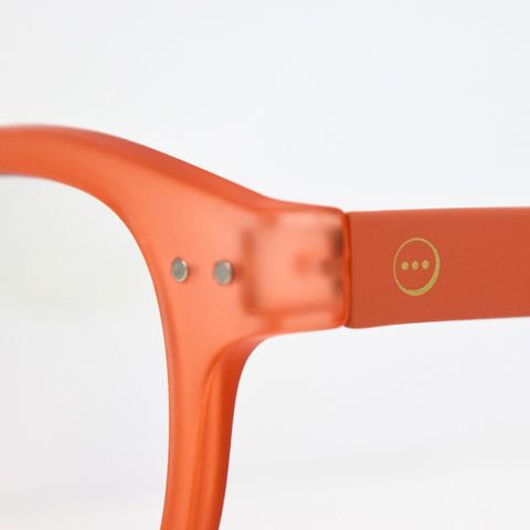 """A"" Warm Orange Reading Glasses"