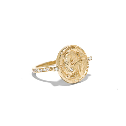 """ANIMAL KINGDOM COIN DIAMOND"" RING"