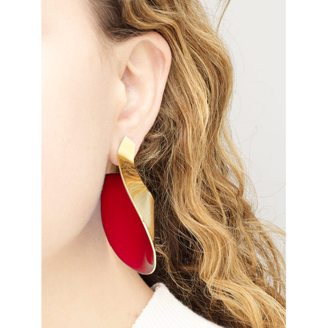 """Small Anish Earrings"" Red"