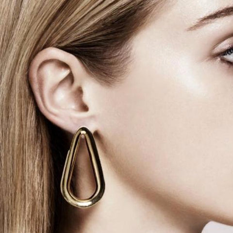 """Small Ellipse Hoops"" Earrings"
