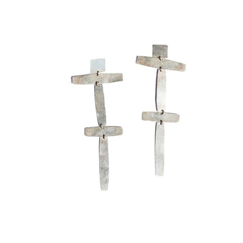 """Double Cross"" Earrings"
