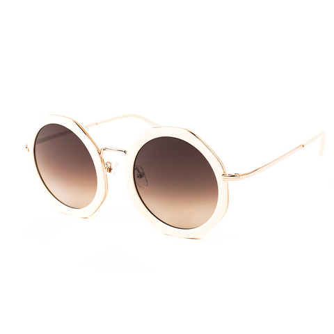 """ANTIBES"" IVORY SUNGLASSES WITH BROWN GRADIENT LENSES"