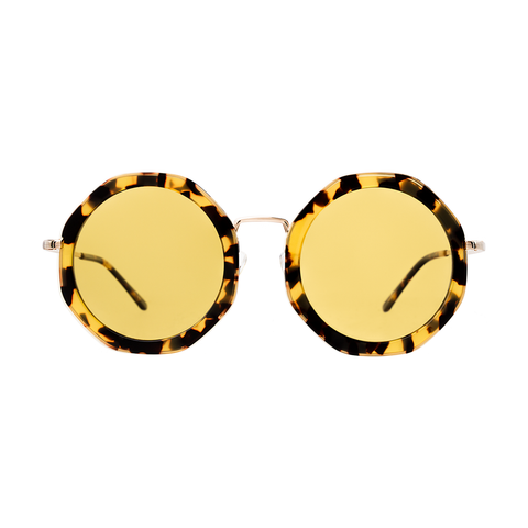 """Antibes"" Tortoise/Gold w/ Honey See Through Lenses"