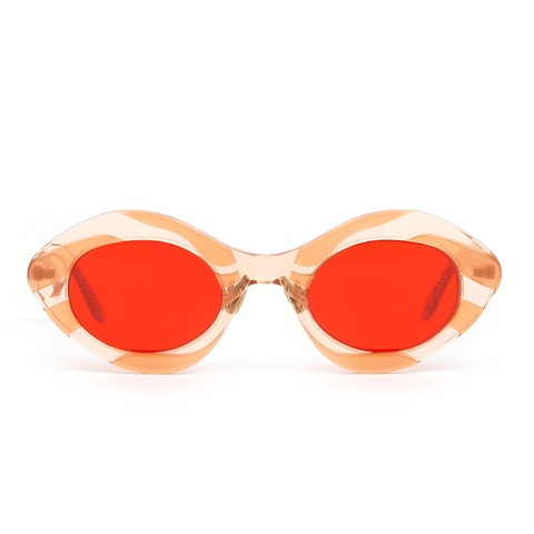 """April Nymph"" Red Sea Anemone Sunglasses"