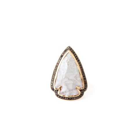 """Arrowhead"" 18k Rose Gold Ring"