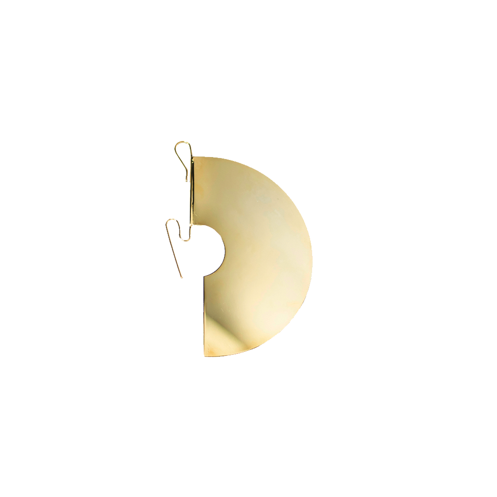 """DISK"" GOLD-TONED MONO EARRING"