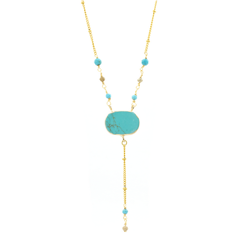 """Turquoise Long"" Necklace"