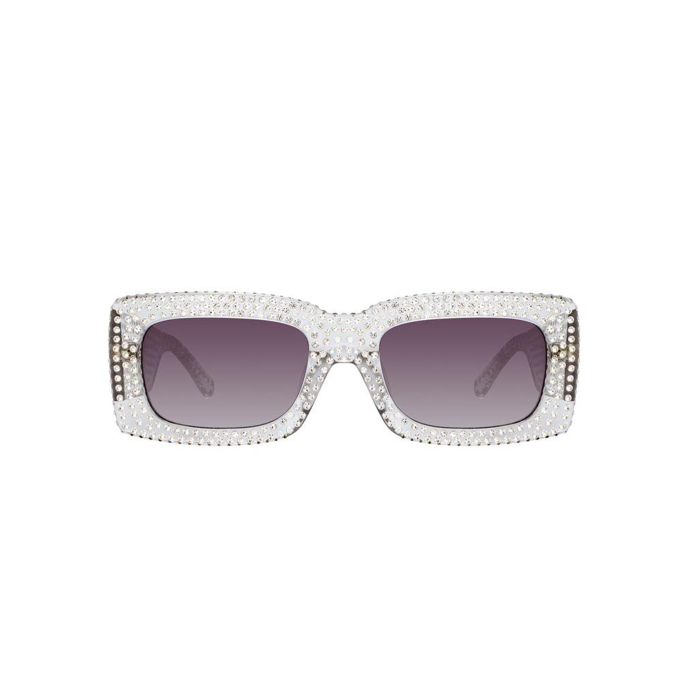 "THE ATTICO X LINDA FARROW ""STELLA"" CLEAR RECTANGULAR SUNGLASSES"