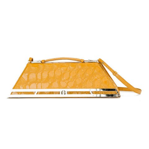 """Doctor Bag"" Yellow Croco"