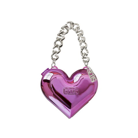 """GCDS"" Chromatic Fuchsia Heart Bag"