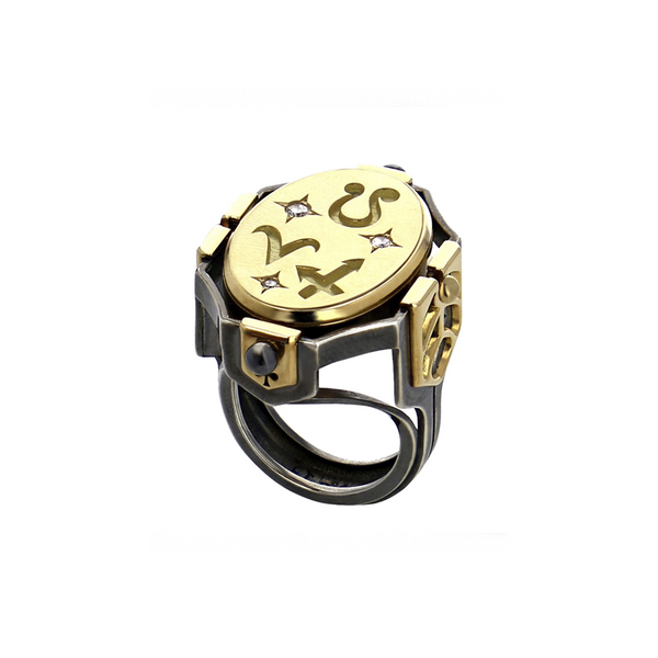 """Seal Fire"" 18K Gold Ring"