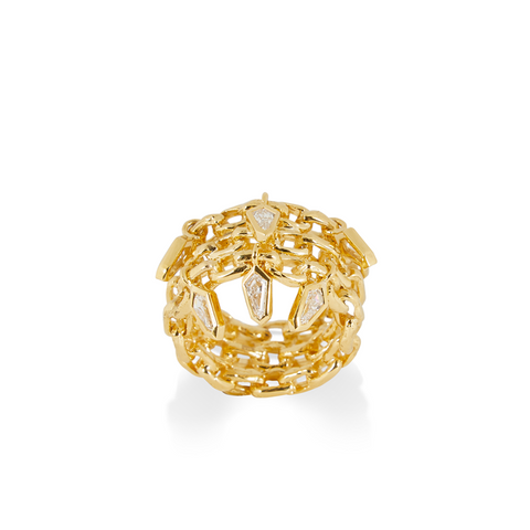 """Curves Ring"" 18K Yellow Gold"